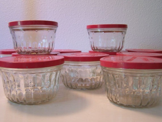 Set Of 12 Vintage Kerr Jelly Glass Jars With By