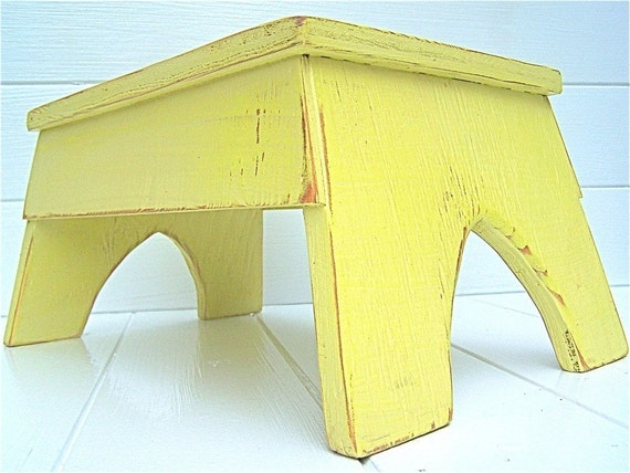 Vintage Style Step Stool No. 2 in Citrus Handmade by Circle Creek Home