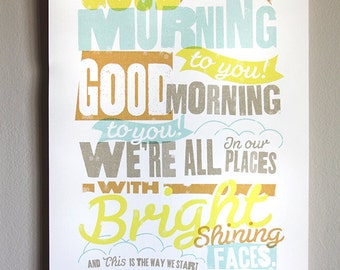 Good Morning To You Print - 11x17