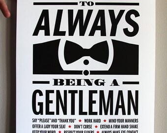 Gentleman Rules Print - 11x17