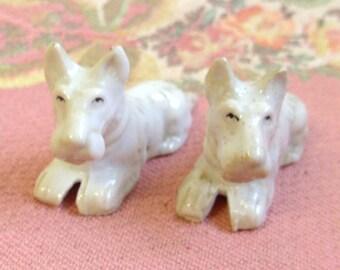 Vintage Porcelain Scotti Dogs