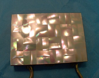 Gorgeous Mother of Pearl Compact/Purse