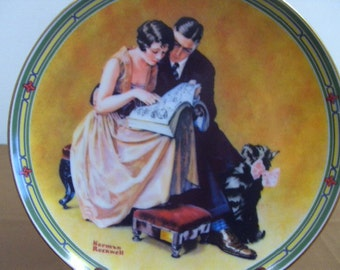Vintage Norman Rockwell Collectible Plate A Couples Commitment