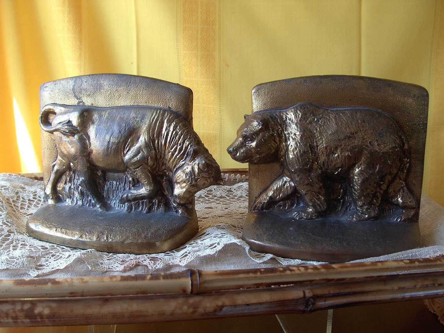 The Bull And The Bear Bookends