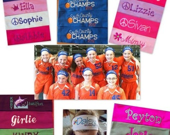 Embroidered Stretch Headbands for teams and sports