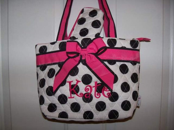 Polka Dot Lunch Tote with free personalization