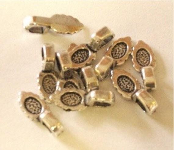 50 Silvertone Jewelry Pendant Bails SALE
