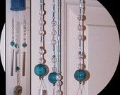 Turquoise Beaded Wind Chime Sun Catcher