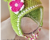 PDF Pattern Earflap Monkey hat with detachable flowers and braids Sizes Preeemie To 4 Years No. 1