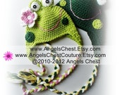 You are Toad-lly Cute Frog Hat Prop Photography Boy and Girl Sizes Newborn to Adult by AngelsChest PDF Crochet Tutorial Pattern No. 25
