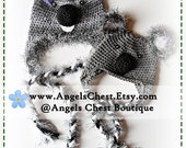 PDF PATTERN Cute Hand Crochet KOALA Bear Hat Newborn to Adult Size Boutique Design - No. 30 by AngelsChest