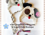 Crochet PUPPY DOG Hat PDF Pattern Sizes Newborn to Adult Boutique Design - No. 33 by AngelsChest