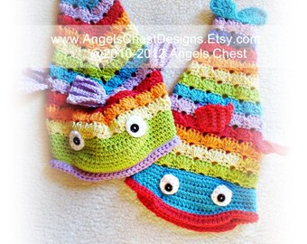 FISH HAT PDF Crochet Tutorial Pattern Something is Fishy Slouch Hat Unisex Prop Sizes 2T to Adult by AngelsChest  Pattern No. 26