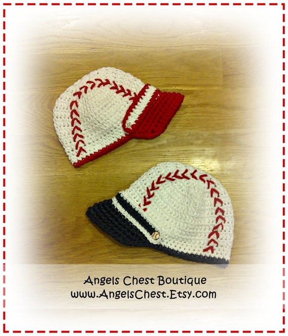Baseball Cap Crochet Hat Pattern Size Newborn To Preteen