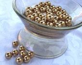 10mm Golden Color Glass Pearls 16pcs