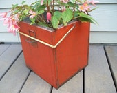 Industrial Storage Metal Box Planter Snack Toter Cooler