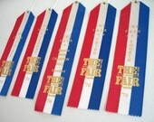 Red White and Blue Award Ribbons