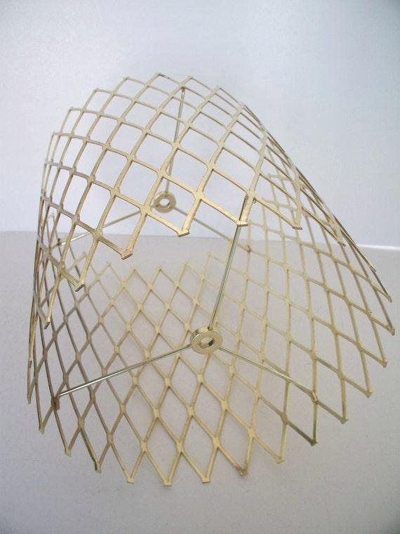 Openwork Brass Lamp Shade