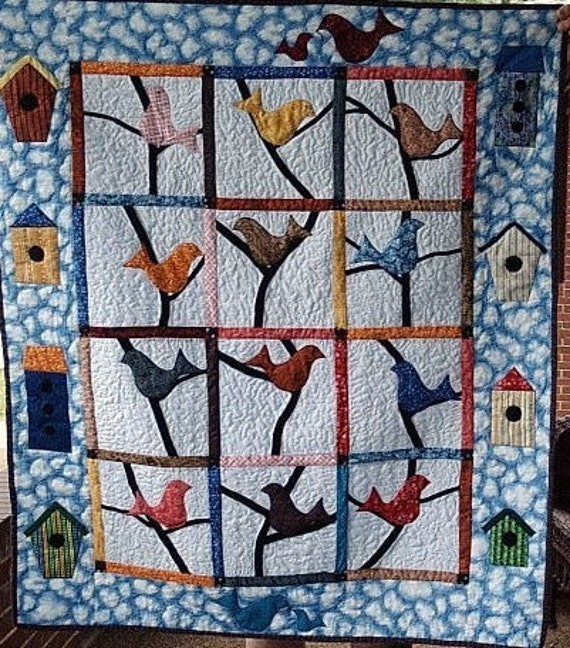 Applique  Birds and Their Houses-CUSTOM ORDER ONLY