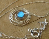 Five Silver Circles Necklace - Reserved