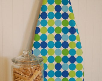 Ironing Board Cover - Michael Miller Disco Dots in Caribe