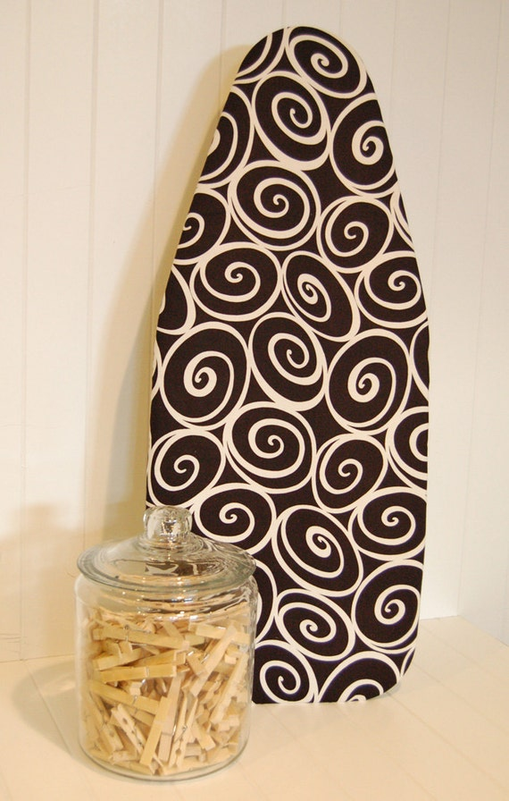 Tabletop Ironing Board Cover - Michael Miller Ironworks Ebony (Black)