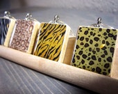 WILD Scrabble tile wine charms- set of 4