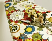 Ironing Board Cover with ELASTIC BINDING Richly Colored Graphic Flower Ironing Board Cover