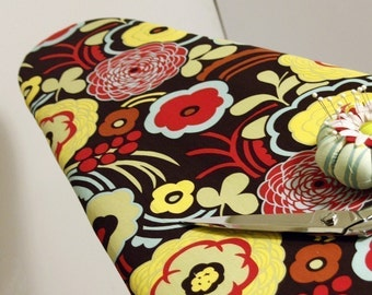 roning Board Cover made with Alexander Henry's Mocca Fabric