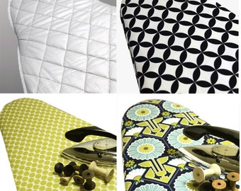 Ironing board cover plus ironing board pad Custom Designer ironing board cover Create Your Own Combination and Save 5.00: pick the size