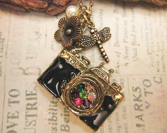 Picture Nature.   a vintage camera necklace