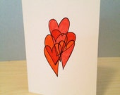 "Doodled ""I Heart You"" Notecard"