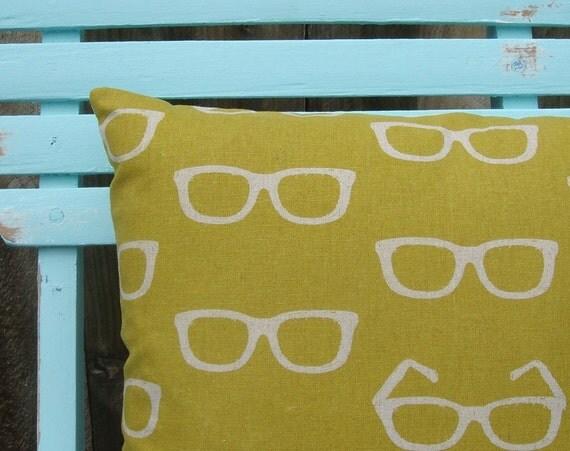 Glasses Print Pillow (111)
