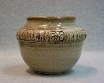 Beige Stoneware Pot