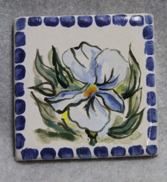 Majolica  Iris Stoneware Tile