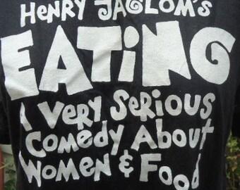 SALE! -  vintage tshirt Henry Jaglom's EATING movie