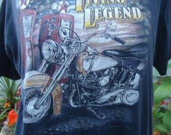 vintage tshirt Living Legend motorcycle shirt