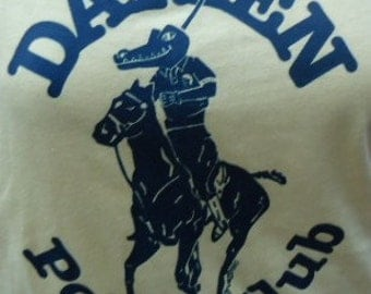 SALE! -  vintage tshirt DARiEN POLO CLuB shirt CT lacoste ralph lauren parody