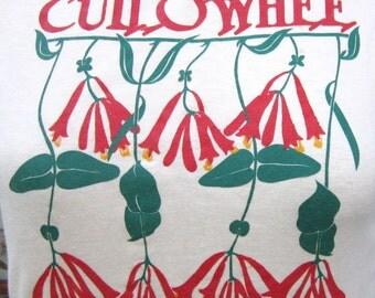 vintage tshirt CULLOWHEE NC 1990 flower