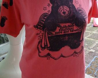 vintage tshirt shirt pink TEDDY BEAR Heaven cute t