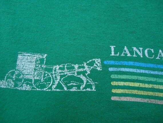 vintage tshirt LANCASTER PA T Horse Buggy Shirt tourist souvenir