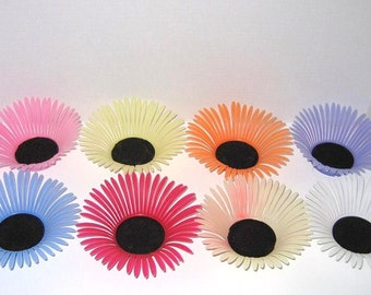 Vintage 1960s Coasters / 60s Plastic Daisy Drink Coasters By Corbosco Italy - Set of 8