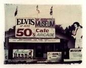 Polaroid transfer Elvis, Elvis Presley, Elvis art, Elvis photography, Elvis home deccor, Polaroid transfers, fine art photography