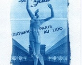 French Lingerie cyanotype print, blueprint, sunprint, cyanotypes, France print, art deco, bra, girdle, home decor, fine art photography