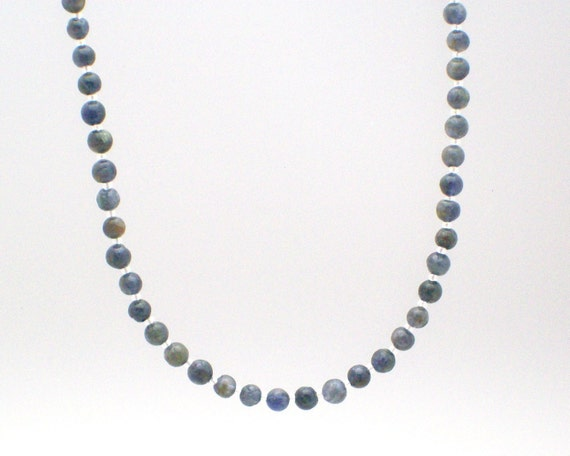 Iolite Necklace and Earrings