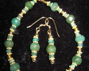 Emerald Island Bracelet and Earring Set