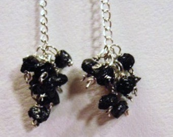 Black Beauty Rough Diamond Earrings