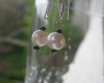 Diamonds And Pearls Earrings in Sterling Silver