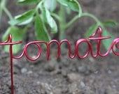 Wire word garden / vegetable marker