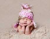 BOGO- Buy 1 get 1 half off- The Alexis-Hand spun and dyed Merino newborn hat- Photo Prop
